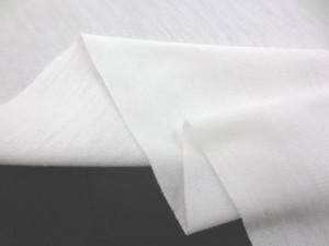 ニット 生地 接触冷感 リヨセル/コットン スムースシルケットバイオ オフ白 165cm幅 [JJ1418]