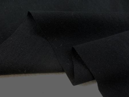 ニット 生地 接触冷感 リヨセル/コットン スムースシルケットバイオ 黒 165cm幅 [JJ1419]