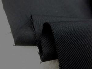 ウール 生地 綾織り ビエラタイプ 黒 148cm幅 [WO1115]
