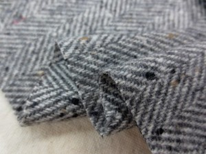 ウール 生地 ヘリンボーン ミックスグレイ 152cm幅 [WO1117]