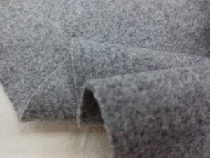 ウール 生地 ウールモッサ 杢グレイ 138cm幅 [WO1119]