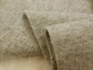 ウール 生地 ウールモッサ 杢ブラウンベージュ 142cm幅 [WO1121]