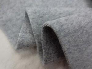 ウール 生地 ウールモッサ 杢グレイ2 136cm幅 [WO1122]