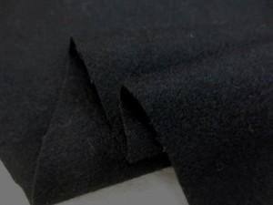 ウール 生地 ソフトフラノ 黒 146cm幅 [WO1127]