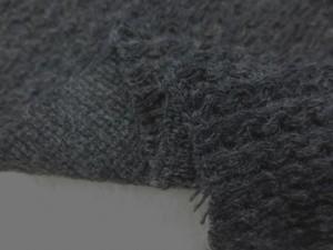 ニット 生地 ウール ローゲージニット 濃杢グレイ 140cm幅 [JJ1331]