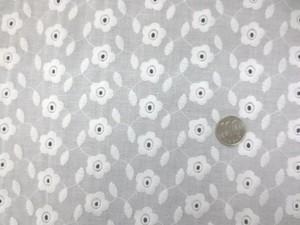 レース 生地 ローンレース エンブロイダリーレース 白 3 146cm巾 [LA456]