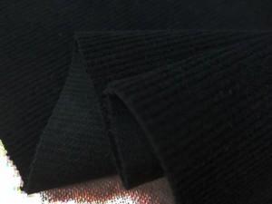 コール天 生地 16W 細畝 CWストレッチコール 黒 ウルトラビーナス加工 105cm幅 [KO951]