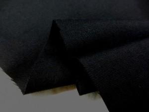 コットン 生地 ツイル 黒 ソフト 150cm幅 [MU1041]