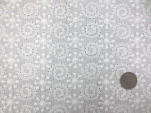 レース 生地 ダブルガーゼレース エンブロイダリーレース オフ白 1 150cm巾 [LA463]