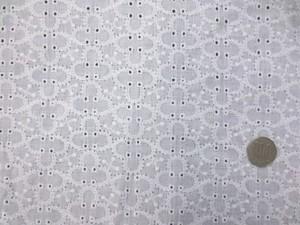 レース 生地 ダブルガーゼレース エンブロイダリーレース 白 4 150cm巾 [LA468]