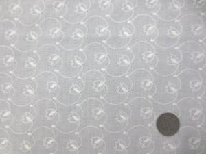 レース 生地 ローンレース エンブロイダリーレース オフ白 1 145cm巾 [LA481]