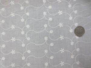 レース 生地 ローンレース エンブロイダリーレース オフ白 5 145cm巾 [LA485]