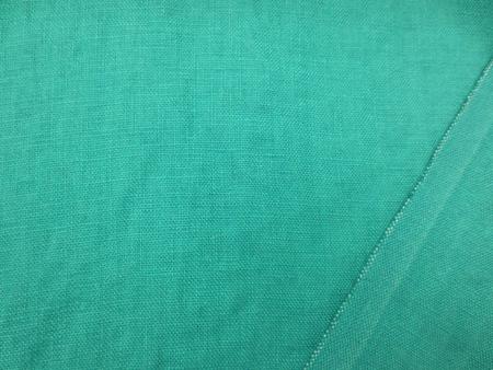 リネン 生地 ヨーロッパリネン 洗い加工 ブルーグリーン  [AS1051]