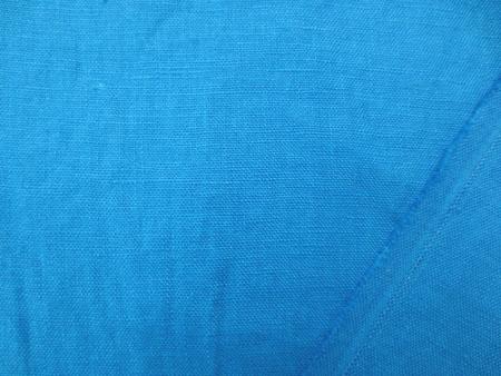 リネン 生地 ヨーロッパリネン 洗い加工 ターコイズブルー  [AS1052]