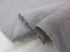 リネン 生地 ヨーロッパリネン 洗い加工 グレージュ  [AS1053]