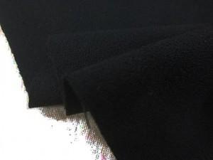 ウール 生地 ウール ジョーゼット 黒 150cm幅 [WO1249]