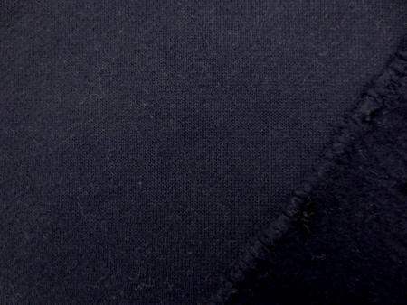 ニット 生地 裏毛 トレーナー地 濃紺 裏起毛 170cm幅 [JJ1422]