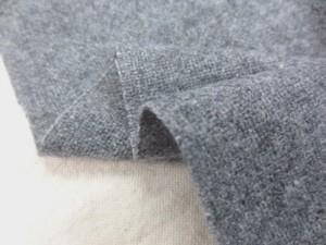 ウール 生地 ウール エターミン 杢グレイ 150cm幅 [WO1180]
