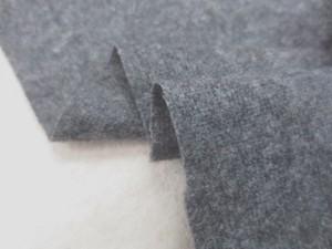 ウール 生地 ウール エターミン 濃杢グレイ 155cm幅 [WO1181]