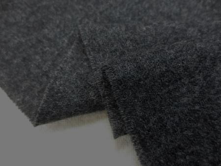 ウール 生地 ウール サキソニータイプ 濃杢グレイ 150cm幅 [WO1182]