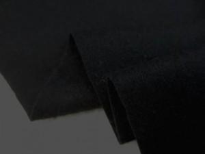 ウール 生地 NIKKE ニッケ ウール フラノ 黒 152cm幅 [WO1187]