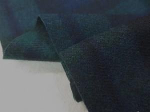 ウール 生地 タータンチェック ブラックウオッチ 152cm幅 [WO1188]