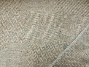 ウール 生地 ウール パッチワーク ヘリンボーン ブラウンベージュ 148cm幅 [WO1192]
