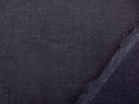 リネン 生地 裏起毛 ダークパープル 139cm幅 [AS1055]