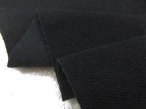 デニム 生地 10オンス ストレッチデニム 真っ黒 洗い加工 148cm幅 [DE2331]