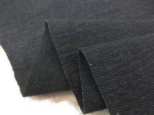 デニム 生地 12オンス ストレッチデニム 墨黒 洗い加工 147cm幅 [DE2332]