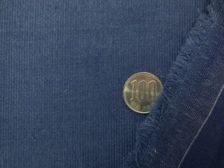 コール天 生地  先染めインディゴ 21Wシャツコール フェイド 148cm幅 [KO971]