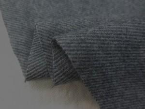 コットン 生地 メランジ ビエラ 杢グレイ 起毛 108cm幅 [MU1046]