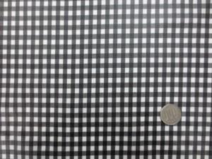 ラミネート 生地 チェック 黒/白 ギンガムチェック ビニルコーティング 107cm幅 [BN548]