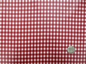 ラミネート 生地 チェック 赤/白 ギンガムチェック ビニルコーティング 107cm幅 [BN549]