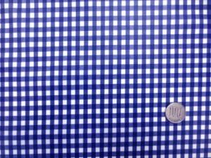 ラミネート 生地 チェック 紺/白 ギンガムチェック ビニルコーティング 107cm幅 [BN550]