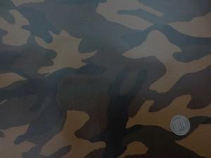 ラミネート 生地 迷彩 カモフラージュ ブラウン系 ビニルコーティング 110cm幅 [BN554]