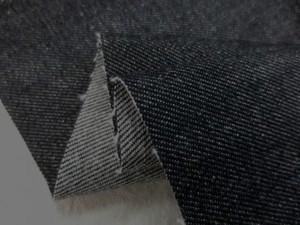 デニム 生地 10オンス デニム ムラ糸黒 150cm幅 [DE2152]