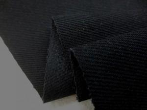デニム 生地 12オンス ブラックデニム 真っ黒 150cm幅 [DE2153]