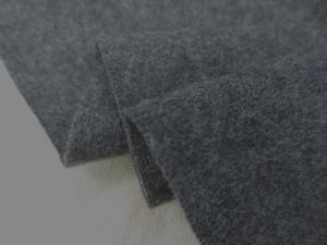 ニット 生地 ウール 圧縮ニット 杢濃グレイ 140m幅 [JJ1430]