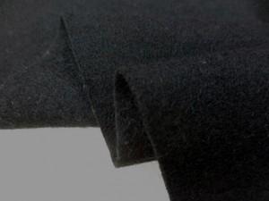 ニット 生地 ウール 圧縮ニット 黒 130m幅 [JJ1433]