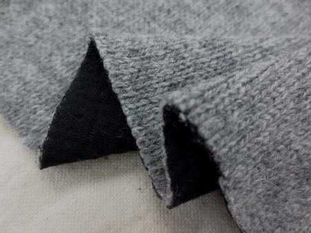 ニット 生地 ウール ローゲージ アゼニット 接結 杢グレイ 165cm幅 [JJ1339]