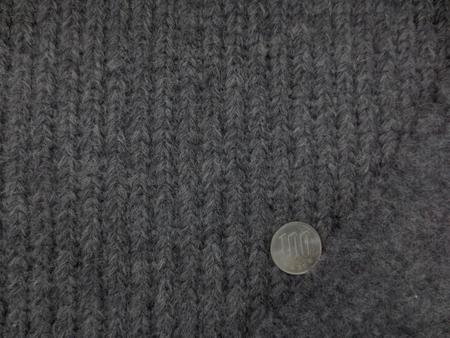 ニット 生地 ウール ローゲージニット 杢グレイ 135cm幅 [JJ1340]
