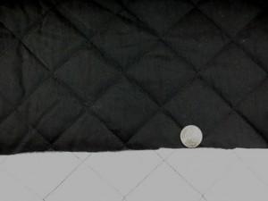 キルト 生地 綿ナイロン 裏不織布 143cm幅 黒 [QT105]
