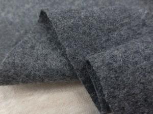 ウール 生地 ソフトフラノ 杢グレイ 145cm幅 [WO1255]