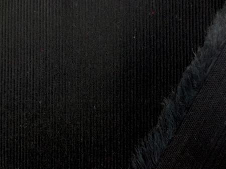 コール天 生地 細畝 コーデュロイ 黒 104cm幅 [KO878]