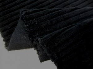 コール天 生地 太畝 コール 黒 110cm幅 [KO892]
