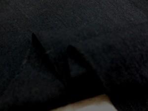 ニット 生地 ウール フライスニット 黒 165cm幅 [JJ1344]