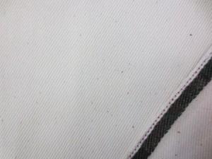 デニム 生地 12オンス セルビッチデニム 生成 赤耳 78cm幅 [DE2333]