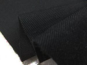 デニム 生地 8オンスストレッチデニム 真っ黒 130cm幅 [DE2341]