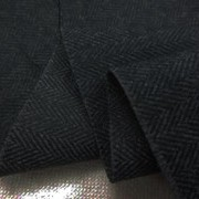 コットン 生地 ヘリンボーン 起毛 杢濃グレイ 144cm幅 [MU1172]